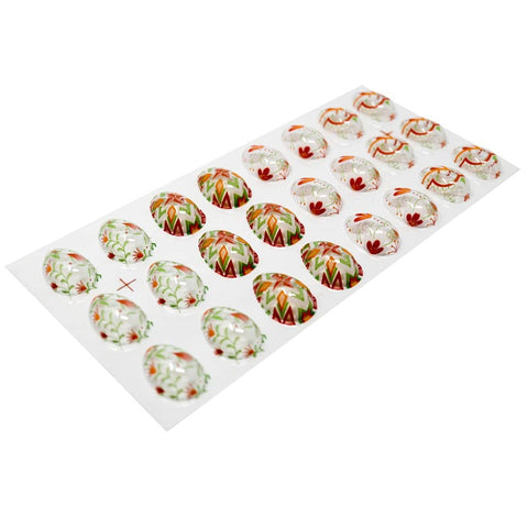 Image of Assorted Patterns Easter Eggs 2 - Chocolate Transfer Mold (24 Cavities)