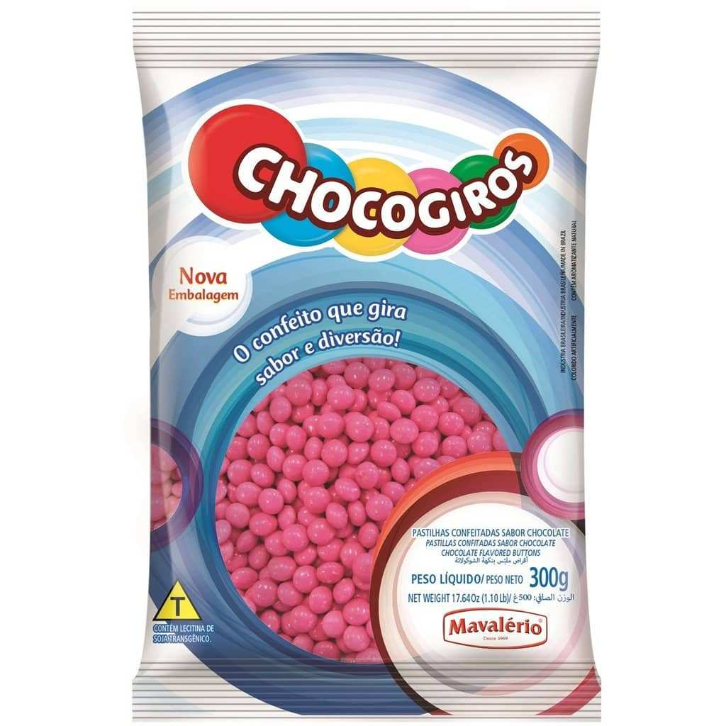Pink Chocolate Buttons 300g (0.66 Lb)