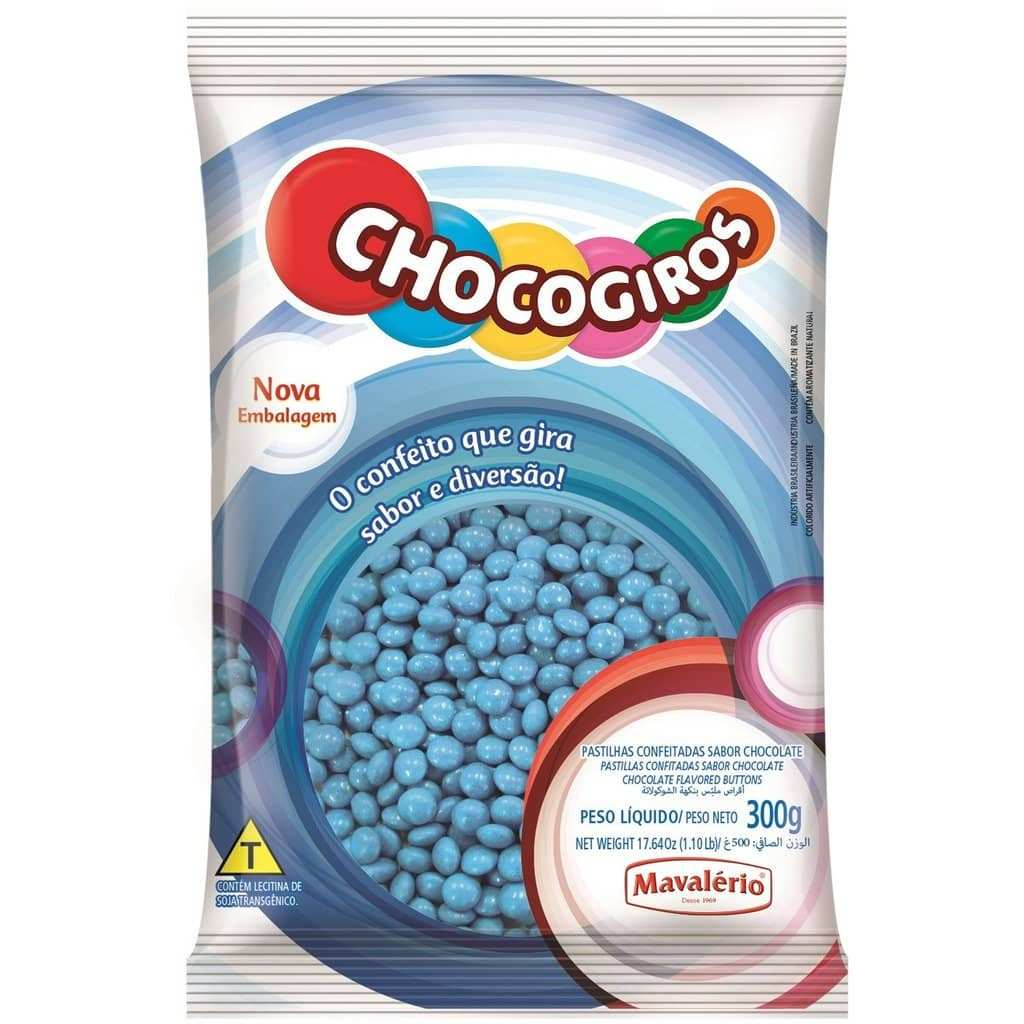 Blue Chocolate Buttons 300g (0.66 Lb)