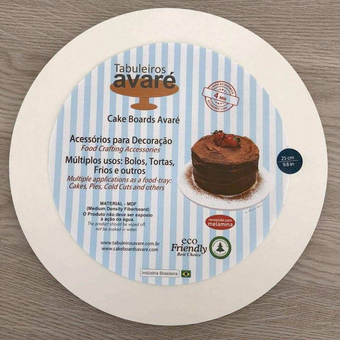 Round MDF 9.8 inches (25cm) Cake Boards-4mm thick