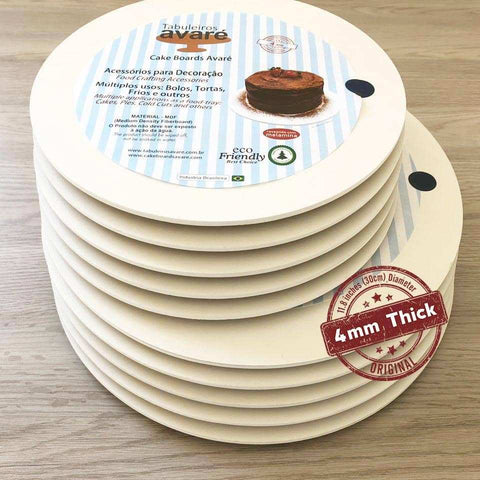 Round MDF 11.8 inches (30cm) Cake Boards-4mm thick