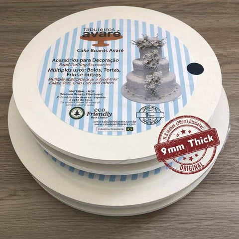 Image of Round MDF 11.8 inches (30cm) Cake Boards-9mm thick