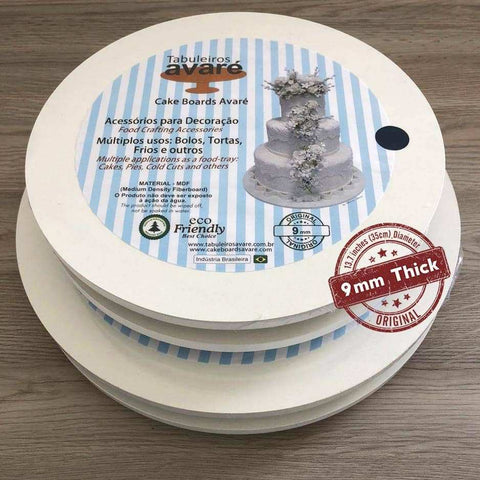 Image of Round MDF 13.7 inches (35cm) Cake Boards-9mm thick - ViaCheff.com