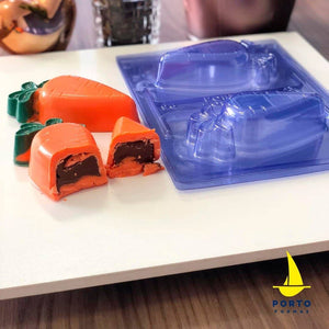 3D Easter Carrot Chocolate Mold