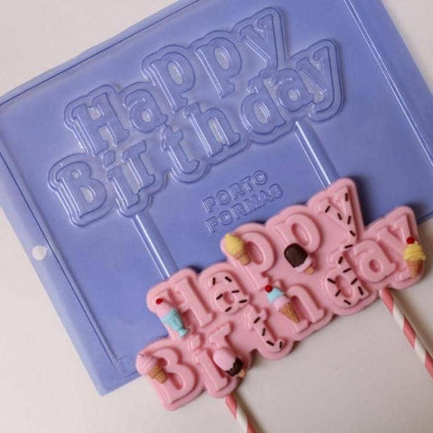 Image of Happy Birthday Chocolate Mold