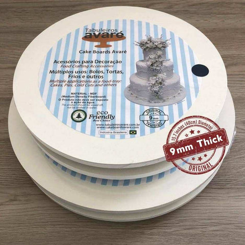 Image of Round MDF 15.7 inches (40cm) Cake Boards-9mm thick - ViaCheff.com