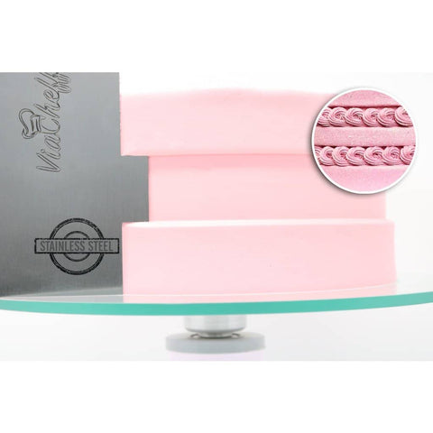 "Image of 2-Sided Cake Decorating Comb #5 (4"" X 8"") - ViaCheff.com"