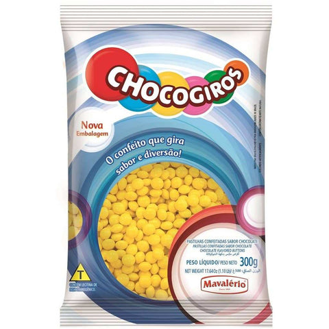 Yellow Chocolate Buttons 300g (0.66 Lb)