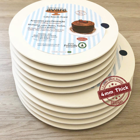 Image of Round MDF 7.8 inches (20cm) Cake Boards-4mm thick - ViaCheff.com
