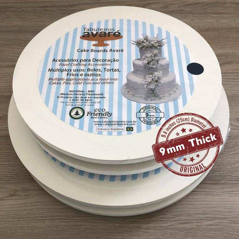 Image of Round MDF 9.8 inches (25cm) Cake Boards-9mm thick - ViaCheff.com
