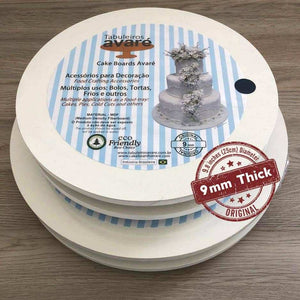 Round MDF 9.8 inches (25cm) Cake Boards-9mm thick - ViaCheff.com