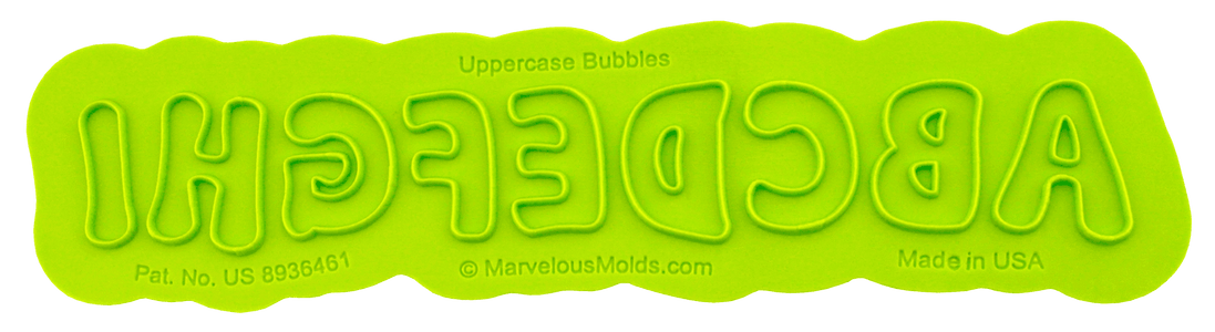 Bubble Uppercase Flexabet Letters