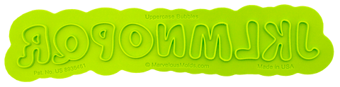 Image of Bubble Uppercase Flexabet Letters