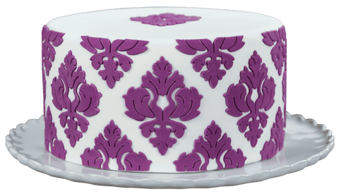 Image of Damask Pattern Silicone Onlay