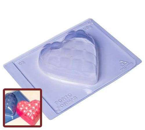Image of Large Heart Pillow Chocolate Mold (500g Shell)