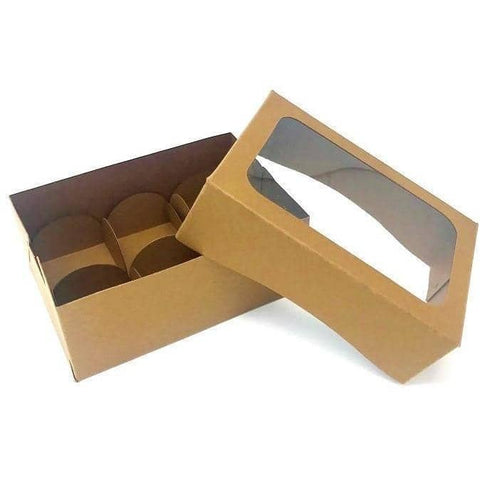 Image of Mini Dessert Box (5 count) - Brown - ViaCheff.com
