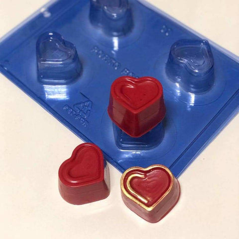 Image of Small Detailed Heart Truffle Chocolate Mold - ViaCheff.com