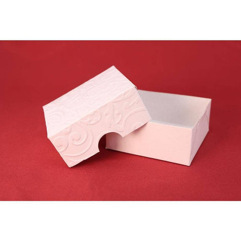 Image of Ornamental Box For Bem-Casados (White Embossed Paper) - ViaCheff.com