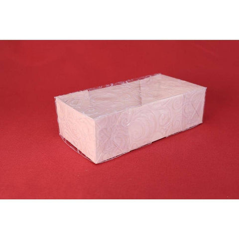 Image of Ornamental Box For Bem-Casados (White Embossed Clear Cover Double Size) - ViaCheff.com