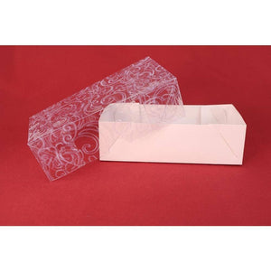 Ornamental Box For Bem-Casados (White Embossed Clear Cover Double Size) - ViaCheff.com
