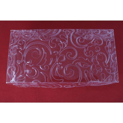 Ornamental Box For Bem-Casados (White Embossed Clear Cover Double Size)