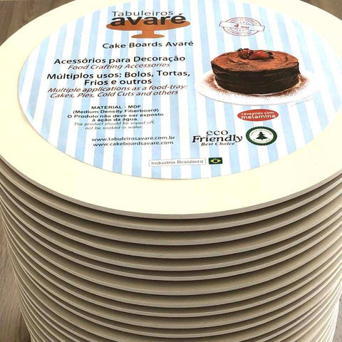 Image of Round MDF 9.8 inches (25cm) Cake Boards-4mm thick - ViaCheff.com