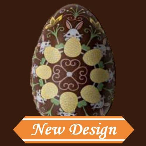 Image of Easter Egg 50g Pattern 2 - Chocolate Transfer Mold (10 Cavities)
