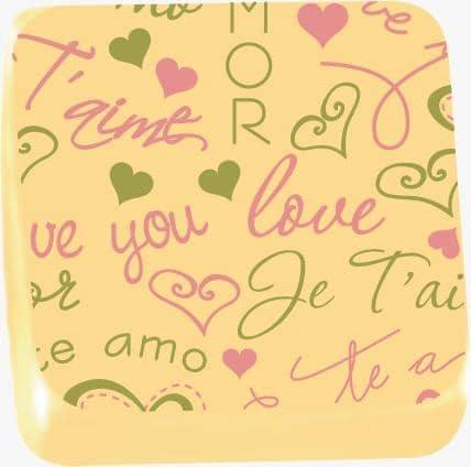 "Image of ""I Love You"" 2  - Transfer Sheet For Chocolate 29 x 39 (cm)"
