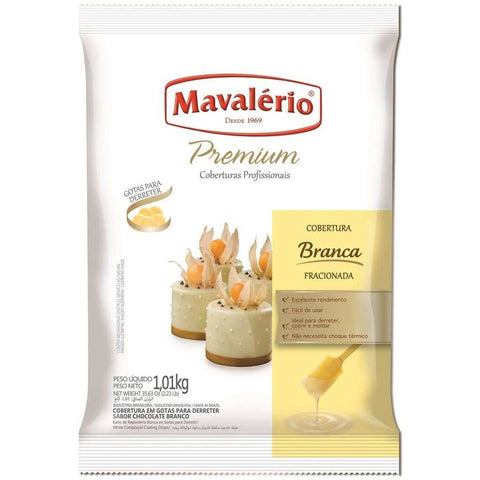 Premium White Chocolate Coating Melting Wafers 1.01kg (2.23 lb)