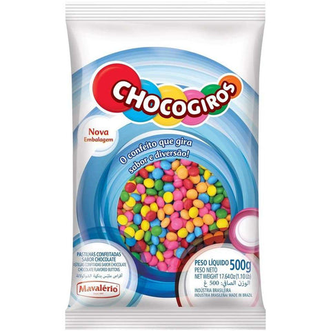 Rainbow Chocolate Buttons 500g (1.10 Lb)
