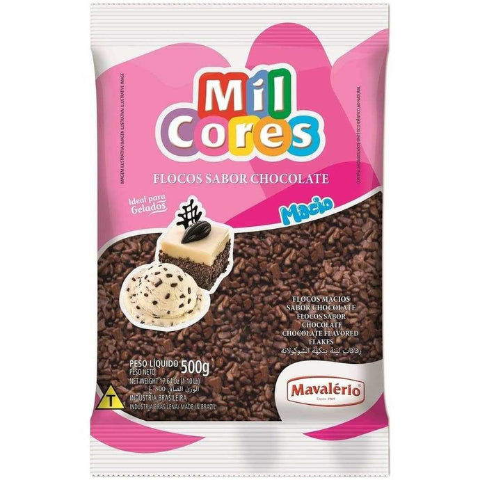 Mavalério Soft Chocolate Flavored Flakes Mil Cores 500G (1.10 lb)