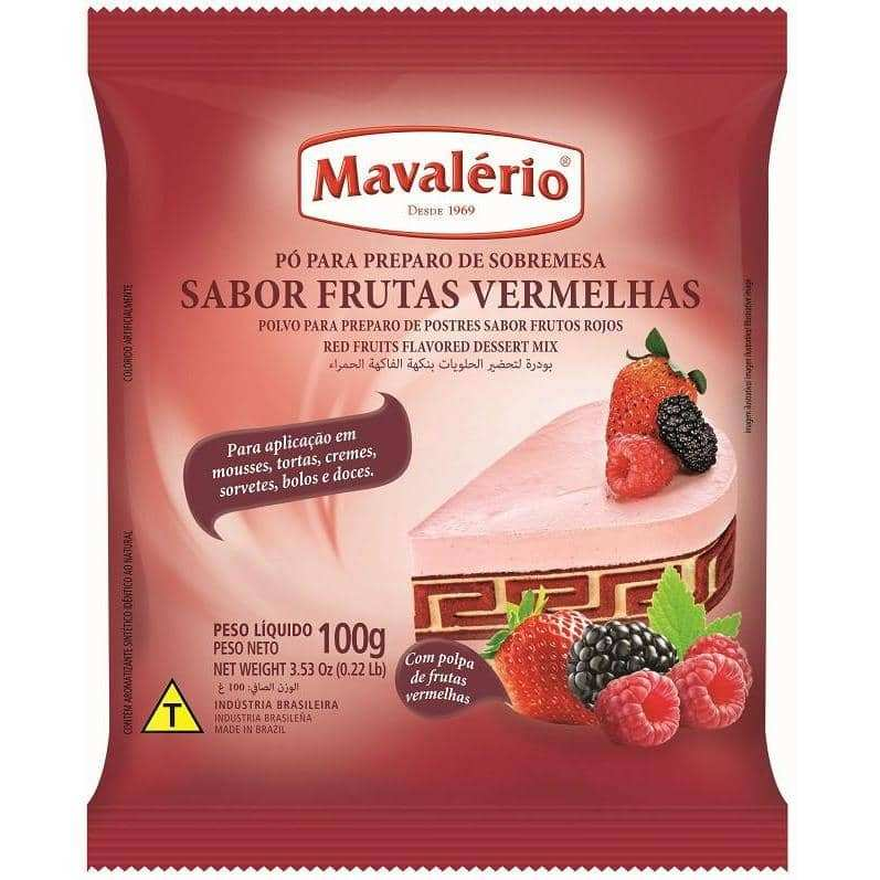 Mavalério Red Fruits Flavored Dessert Mix 100g (3.5oz)