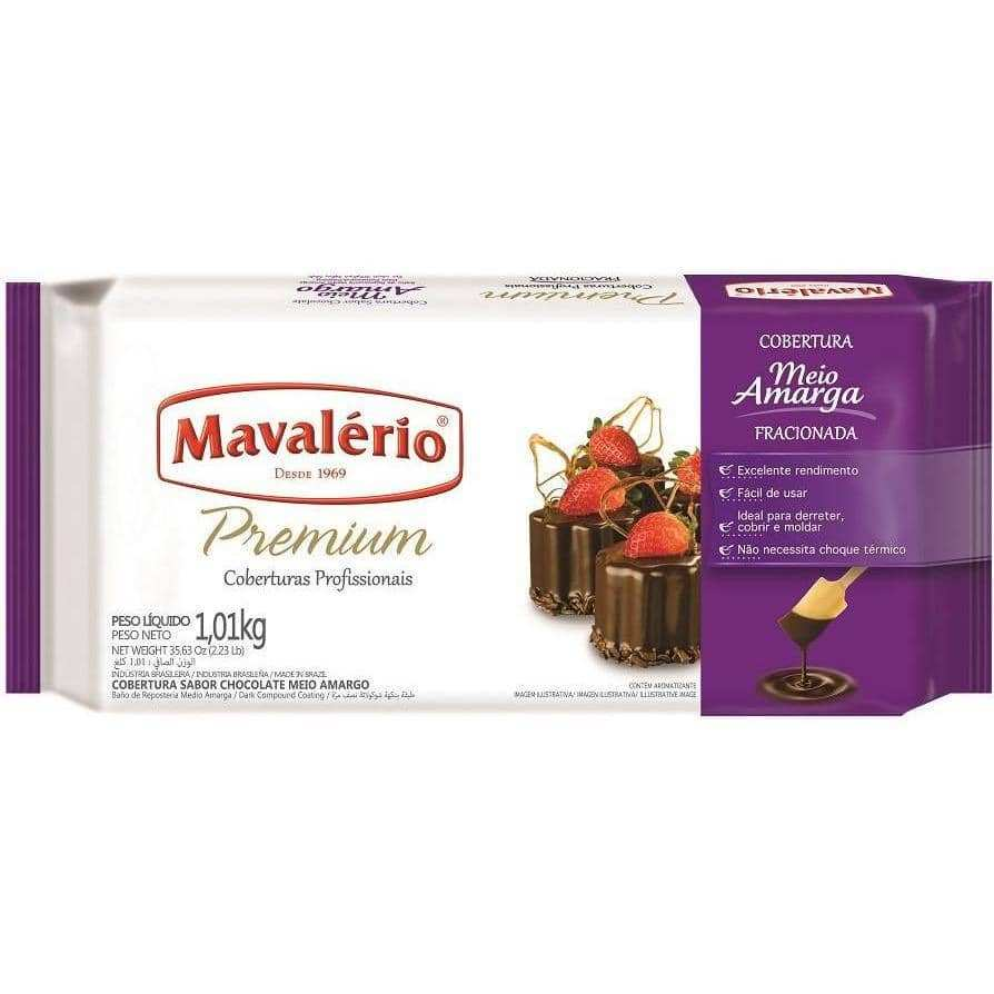 Mavalério Dark Chocolate Premium Coating 1.01kg (2.23 Lb)