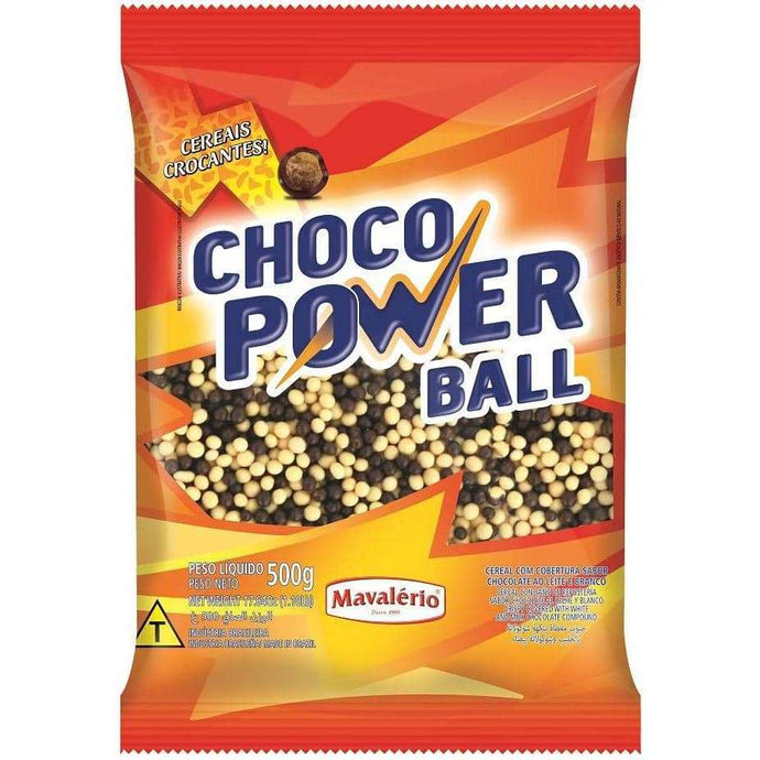 Mavalério Crispy Covered With White/Milk Chocolate Coating Choco Power Ball Mini 6mm 500g (1.10 lb)