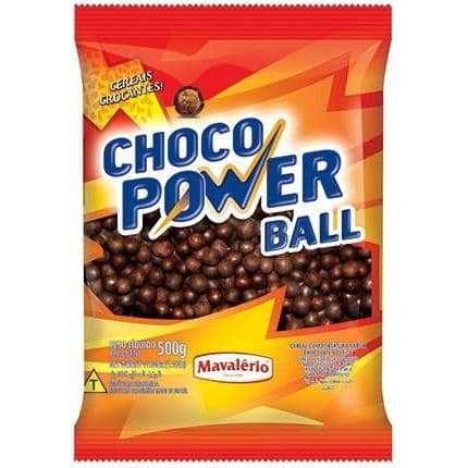 Mavalério Crispy Covered With Milk Chocolate Coating Choco Power Ball 12mm 500g (1.10 LB)