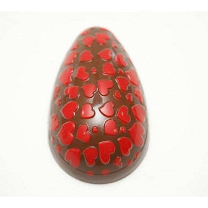 Heart Textured Easter Egg Chocolate Mold (250g Shell)