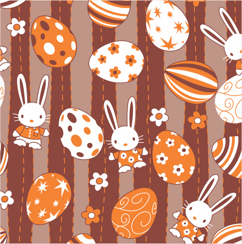 Image of Easter Pattern 5 - Transfer Sheet For Chocolate 290 x 390 (mm)