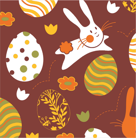 Image of Easter Pattern 3 - Transfer Sheet For Chocolate 290 x 390 (mm)