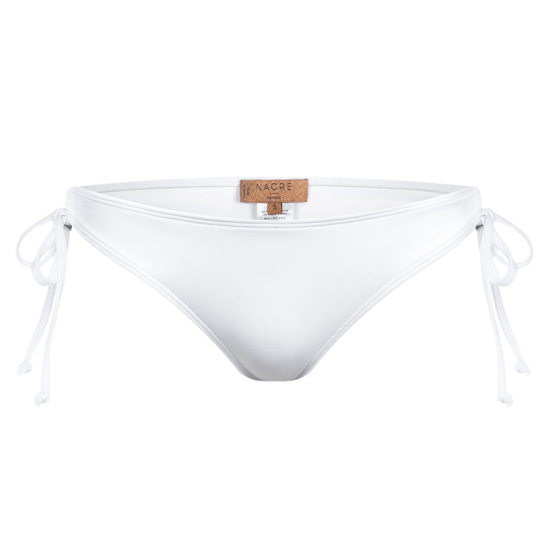 classic bikini bottom knotted at the sides in white