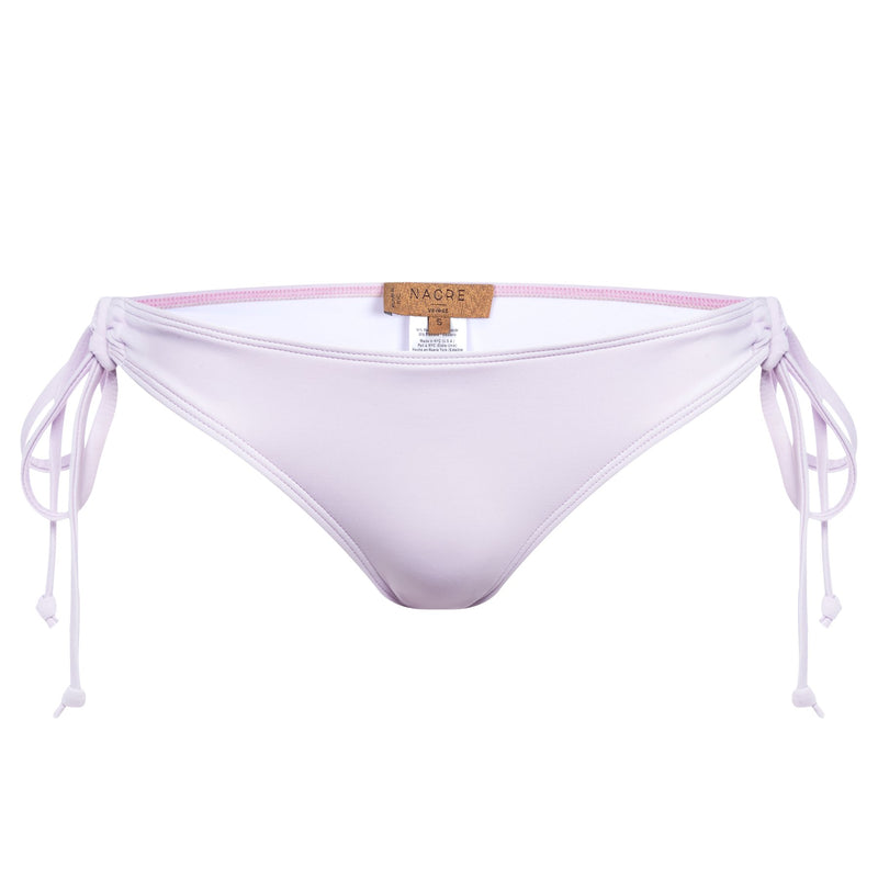 classic bikini bottom knotted at the sides in lavender
