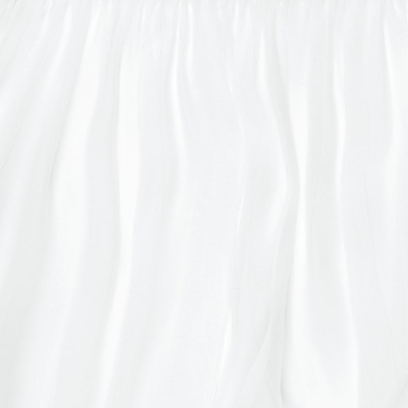close up of a silk chiffon in white