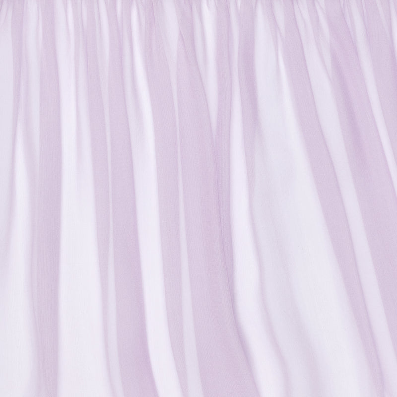 close up of a silk chiffon in lavender