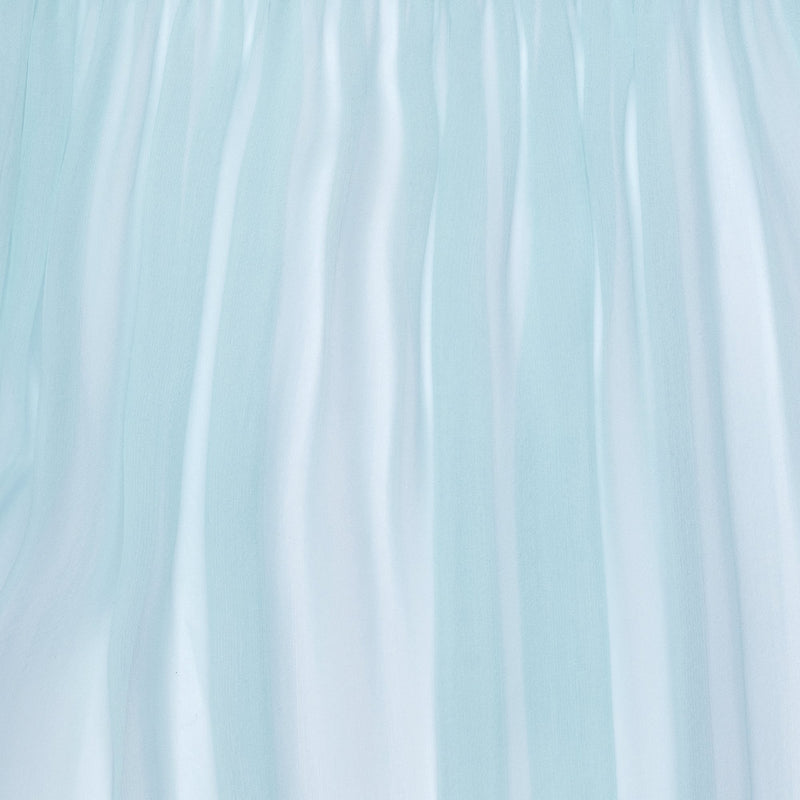close up of a silk chiffon in pastel blue