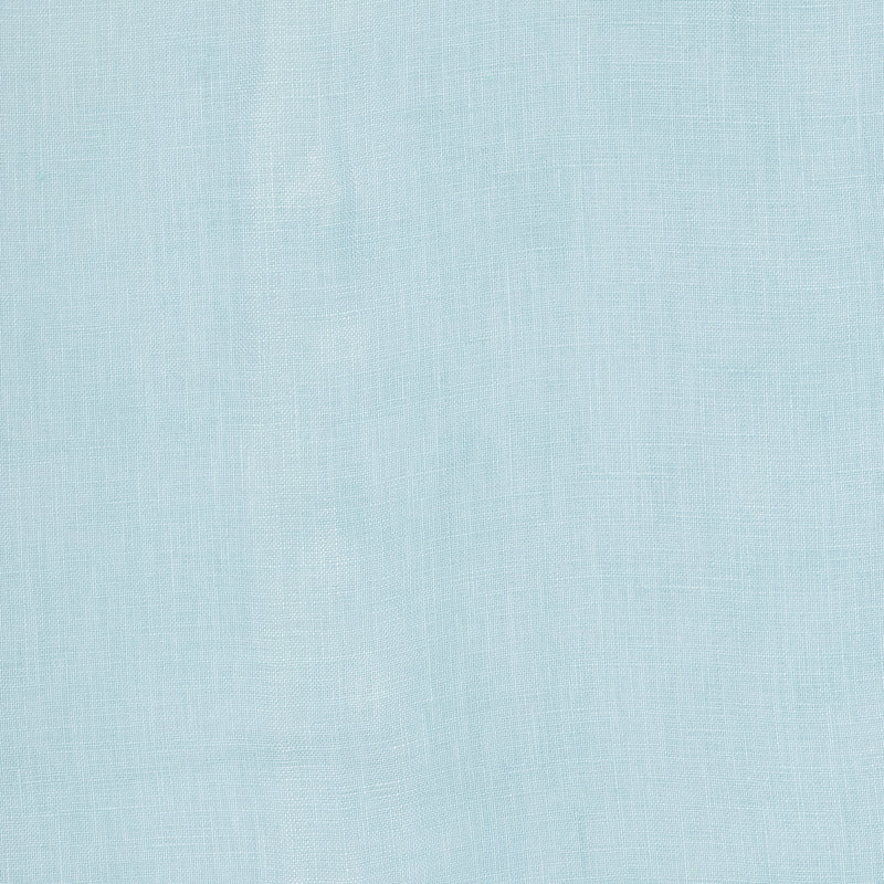close up of a linen fabric in pastel blue