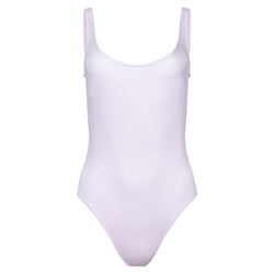 classic one-piece swimsuit in lavender