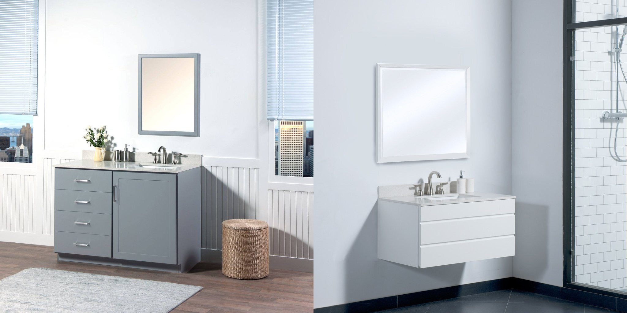contemporary vanity sets