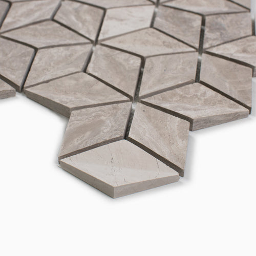 Warren 10-Pack Mosaic Wall, White Wooden Marble