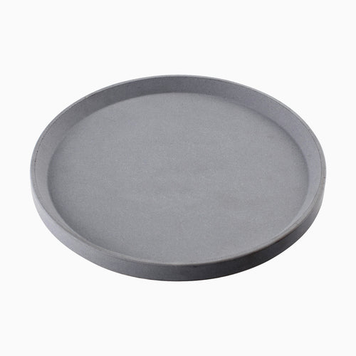 Atticus Round Display Tray, Concrete