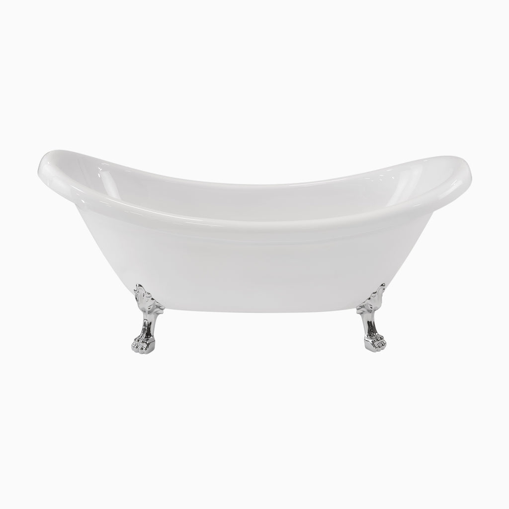 double slipper clawfoot tub acrylic. 71  Mona Acrylic Double Slipper Clawfoot Tub Bathtubs Maykke