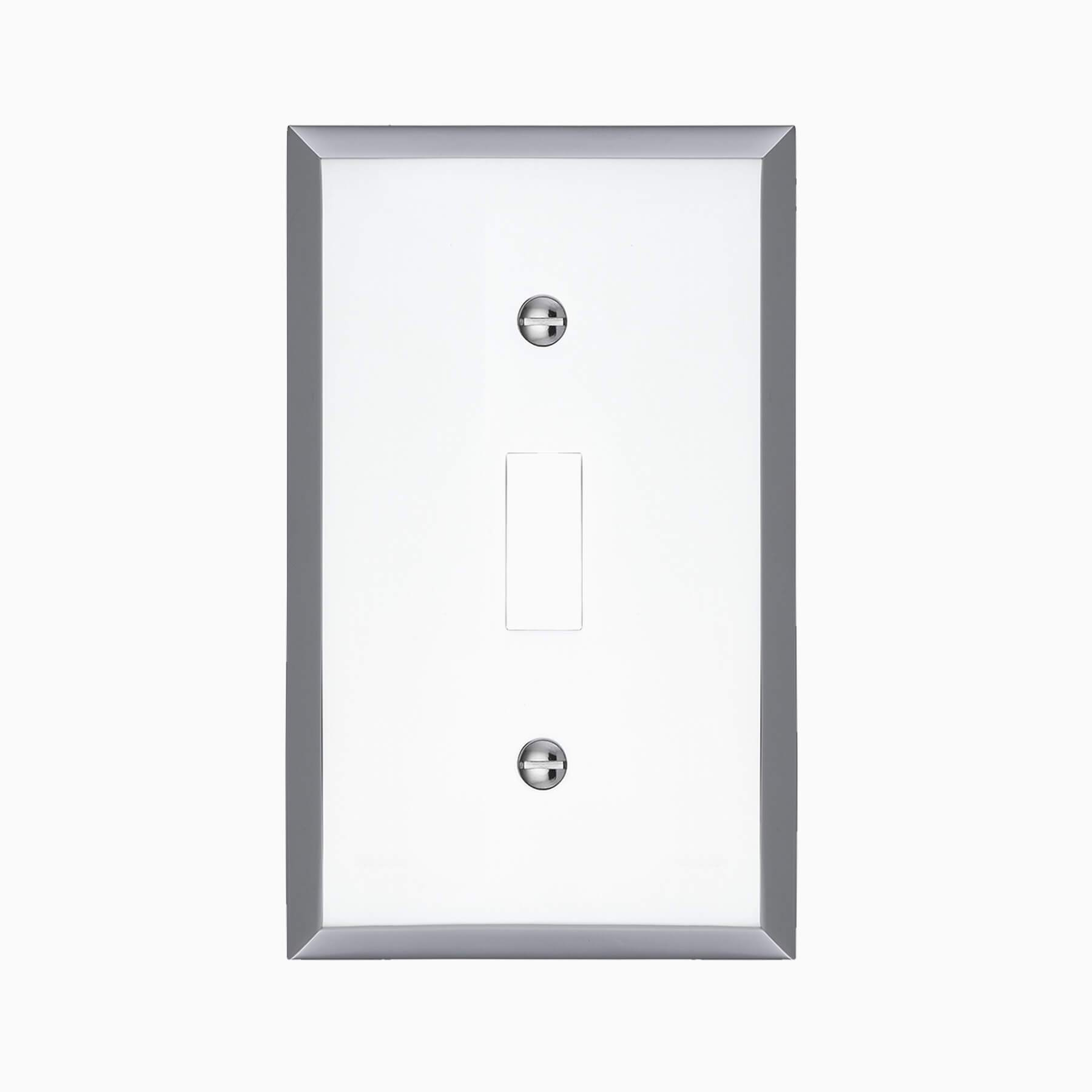 Graham Single Light Switch Cover, Polished Chrome